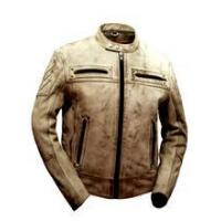 China MOTORCYCLE SPORTY MENS LEATHER SCOOTER JACKET on sale