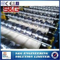 Quality Galvanized Steel Floor Deck Roll Forming Machine Driving Motor 22 KW for sale