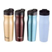 Quality 18 Oz Stainless Steel Tumbler With Extra Spill-Proof Sliding Lid Double Wall Insulated Coffee Mug Th for sale