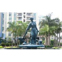 Buy cheap Large Outdoor Fountains Western and Loving Copper Figurine Statues from wholesalers