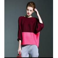 China Women American Casual Wear Pleated Batwing Top on sale