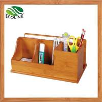 China Natural Bamboo 2-Slot Mail Letter Organizer Holder on sale