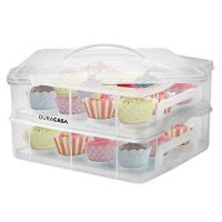 24 Cupcake Carrier. Two Tier Cupcake Storage Container and Carrier.