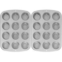 Buy cheap Wilton Recipe Right Nonstick 12-Cup Regular Muffin Pan (2, STANDARD) from wholesalers