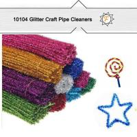 Quality Glitter Sparkle Long Large China Chenille Stems for Crafts for sale