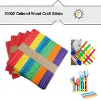 Quality 114mm Colored Wooden Popsicle Sticks and Lollipop Sticks for Craft Idea for Kids for sale