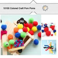 Quality Acrylic Assorted Craft Pom Poms Bulk Packing for Hobby and Craft Supplies for sale