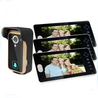 Quality 7inch Wireless Intercom Doorbell with 3 Monitors for sale