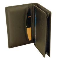 Quality Cow hide leather card holder(Round pocket)(673) for sale