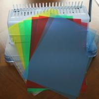 China A4 PVC Binding Cover Hard Plastic Book Cover on sale