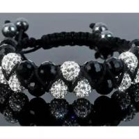 China Crystal Beads Shamballa Bracelets Wholesale For Wedding Gift on sale
