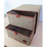 Quality Household Customized Multipurpose Nonwoven Fabric Cardboard Drawer Storage Box for sale