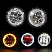 China 4.5 Inch Fog Light with Angel Eyes for Harley Motorcycle on sale