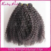 Quality Wholesale price brazilian afro kinky hair 4c afro kinky curly human hair weave afro b hair styles for sale