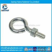 Quality Stainless steel hook bolt long stub eye bolt with nut for sale