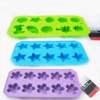 RENJIA flower shaped silicone ice cube tray food grade reusable ice cube home ice makers