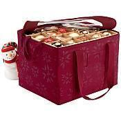 Quality Seasons Ornament Organizer and Storage Bin for sale
