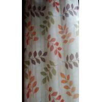 Quality Leaves printed oxford curtain for sale