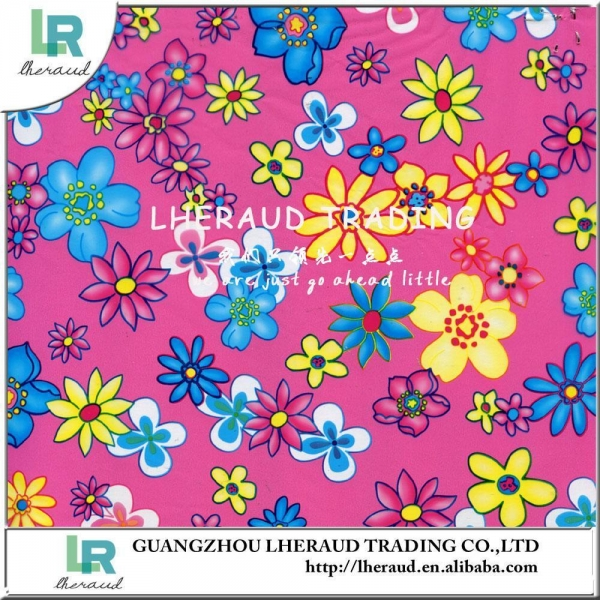 Buy colourful printed pattern synthetic leather for making bags A84287 at wholesale prices