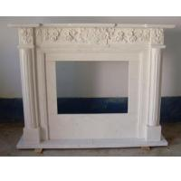 Quality Customized Design Natural Antique White Marble Stone Fireplace For Outdoor for sale