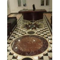 Quality Design Waterjet White/Cream/Brown Stone Marble Sandstone Pattern Medallion For Floor Decoration for sale