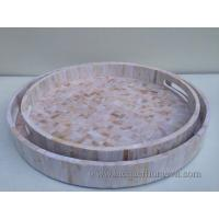 China HT6730 Round MDF lacquer serving tray on sale