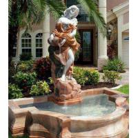 China Outdoor Stone Lighted Water Fountain Waterfalls Landscape Fengshui Garden Deco on sale
