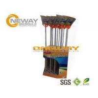 Quality Promotion Broom Cardboard Display Stands Pantone And CMYK Color for sale