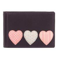 China Y5318 HT 23 - Leather Love Heart Applique Travel Pass / Oyster Card Holder on sale
