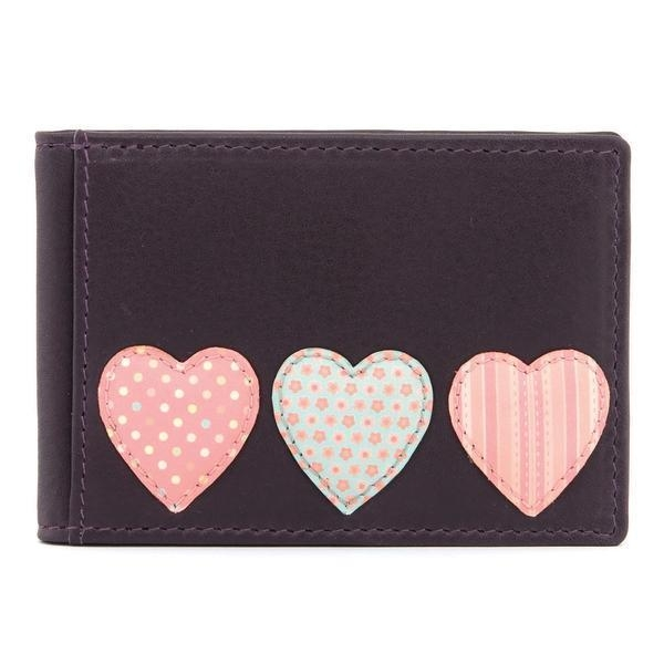 China Y5318 HT 23 - Leather Love Heart Applique Travel Pass / Oyster Card Holder