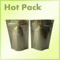 Quality Gold Printed Stand Up Aluminum Foil Packaging Bags For Pet Food Packaging for sale