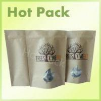 Quality Food Grade Aluminum Foil Packaging Bags With Zip Lock Natural Brown Kraft Paper for sale