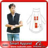 Quality Apparel Fashion Waistcoat For Men Design with electric heating system heated clothing warm OUBOHK for sale