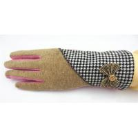 Quality Ladies Woolen Gloves With Bowknot for sale