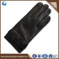 Quality Classic man winter smartphone sheepskin leather touch glove made in China for sale