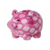 China White spots stand pink pig piggy bank on sale