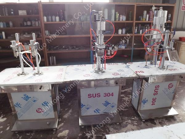 Buy Bench Top Semiautomatic Aerosol Filling Machine at wholesale prices