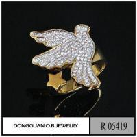 Quality Rings Gold Brass Animal Sex Women's Ring /Gold Bird Ring/Pigeon Ring Silver Jewlery for sale