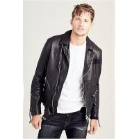 Quality NEW ARRIVALS MENS PATCHED LEATHER BIKER JACKET for sale