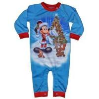Quality Disney Infant Toddler Holiday Pajama Onesie Festive Santa Mickey Mouse for sale