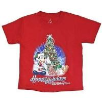 Quality Disney Toddler Shirt - Happy Holidays Festive Santa Mickey Mouse for sale