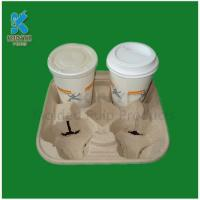 Quality Disposable and Biodegradable Paper Pulp Cup Trays Wholesale for sale