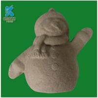 Quality DIY Crafts for Kids, Paintable Paper Pulp Toys Snowman for sale