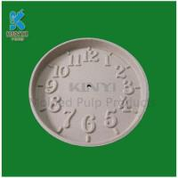 Quality Creative Decorational Paper Pulp Molded Round Clock for sale