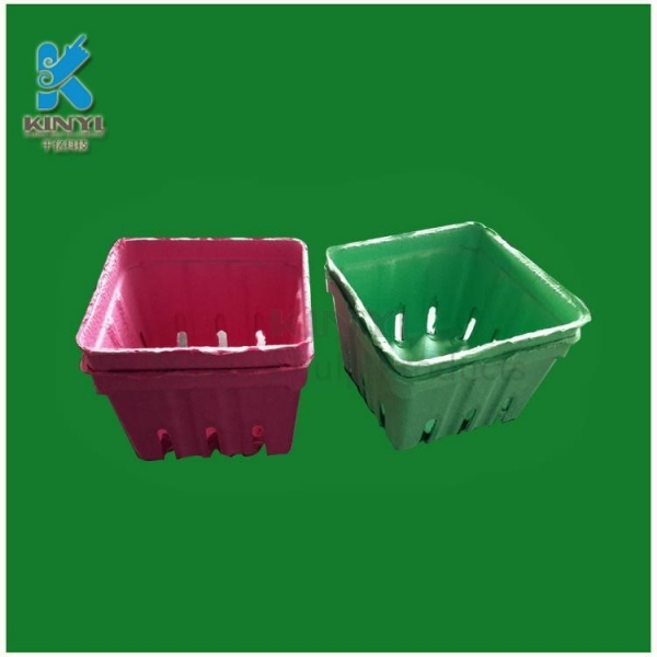 Buy Biodegradable Paper Pulp Fruit Packaging Trays at wholesale prices