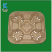 Quality Biodegradable Paper Pulp Coffee/Drink/Tea Cup Trays for sale