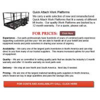 Quality Quick Attach Work Platforms for sale