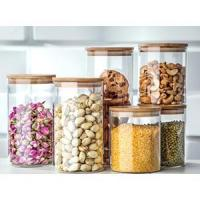 Table & kitchen glassware Glassery Airtight Glass Canister