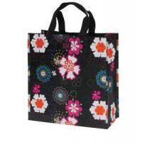 Quality Jam Poly Shopping Bag - Black Flower Power for sale