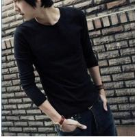 Quality Blank T-shirt Solid color long-sleeved models 06 for sale